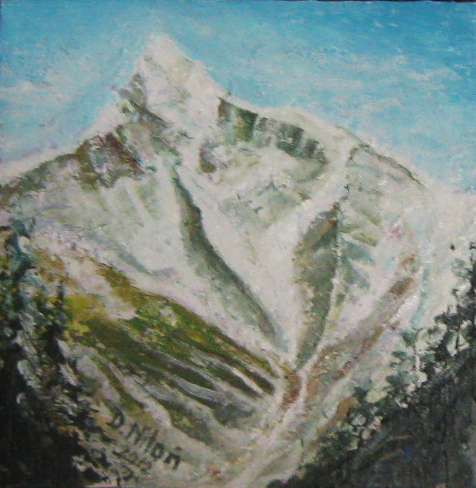 Rocky Mountains, painted by Canadian artist Danuta Niton