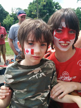 Canada Day face painting by Danuta