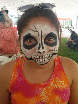 scul - face painting