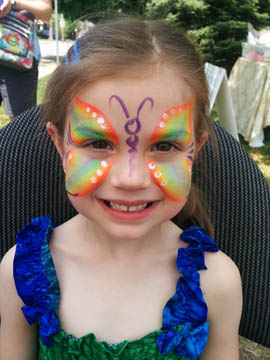 butterfly face painting by Danuta