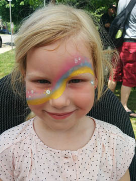 rainbow face painting by Danuta Niton